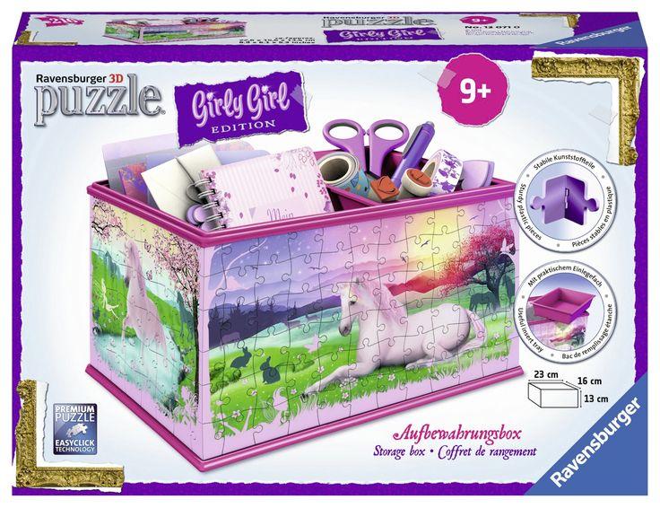 Girly Girl Edition Puzzle Aufbewahrungsbox Einhörner