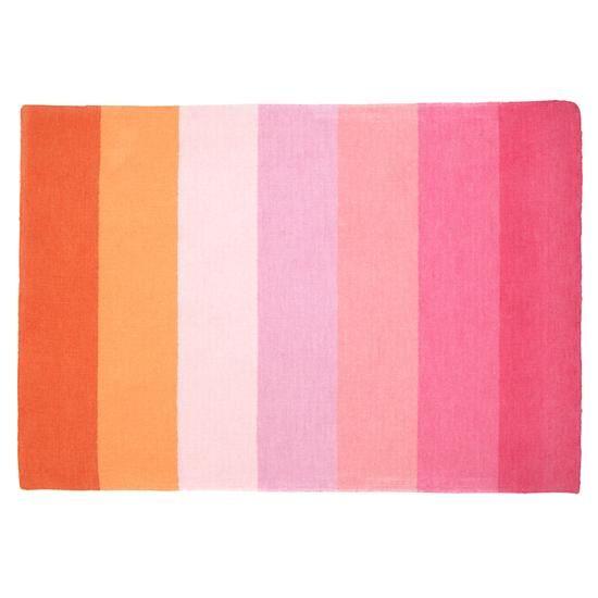 Kids' Rugs: Kids Pink & Orange Broad
