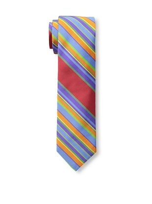 61% OFF Gitman Men's Twill Stripe Tie, Red