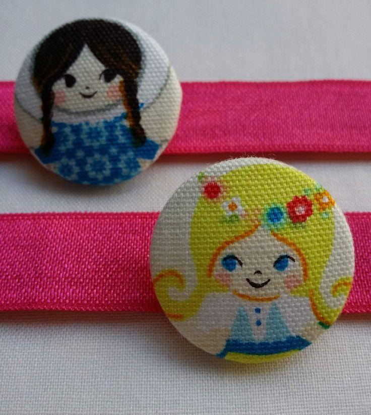 Eskimo and Scandinavian Girl Button Bobble Hair Ties with Girls from around the world!  Artisan made in beautiful Byron Bay Australia. www.jularoo.com