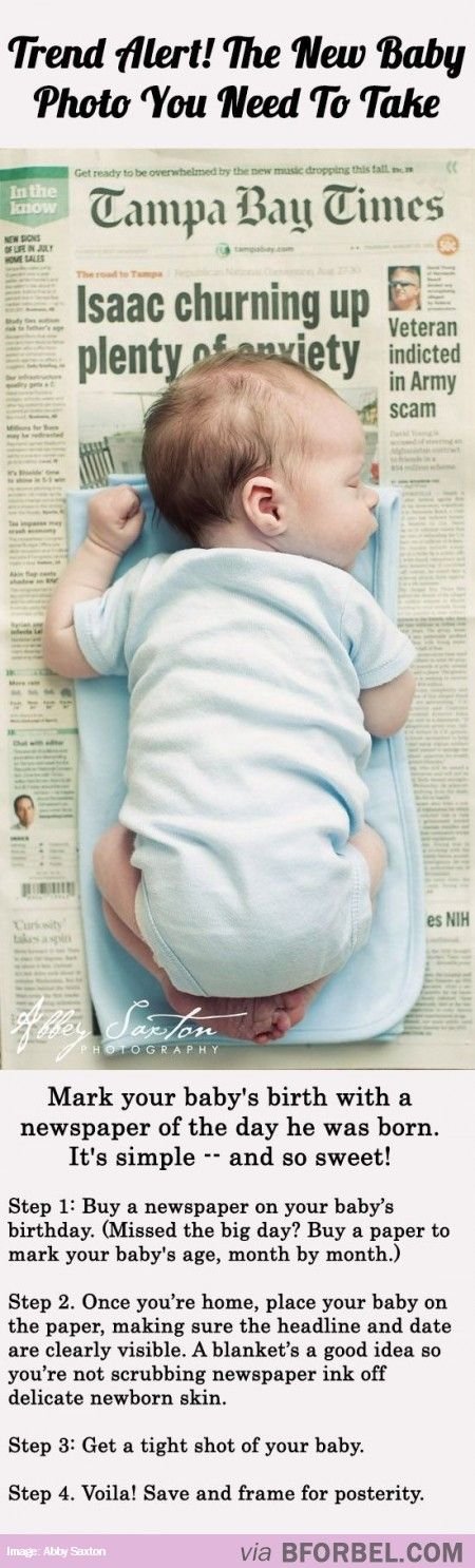 Mark your baby's birth with a newspaper photo reflecting the day he was born