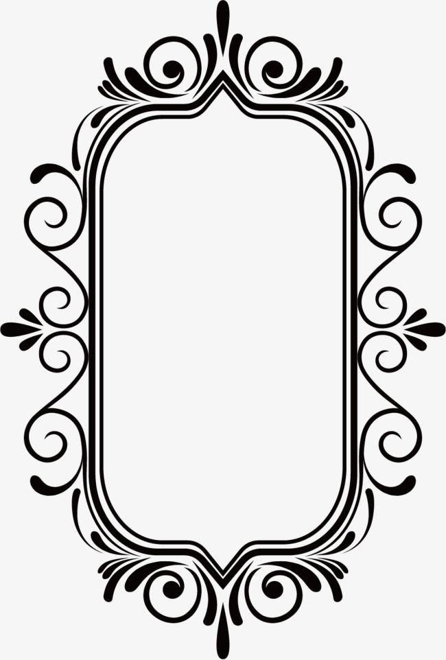 Ancientborder Classic Frame Black Vector Border Vector Frame