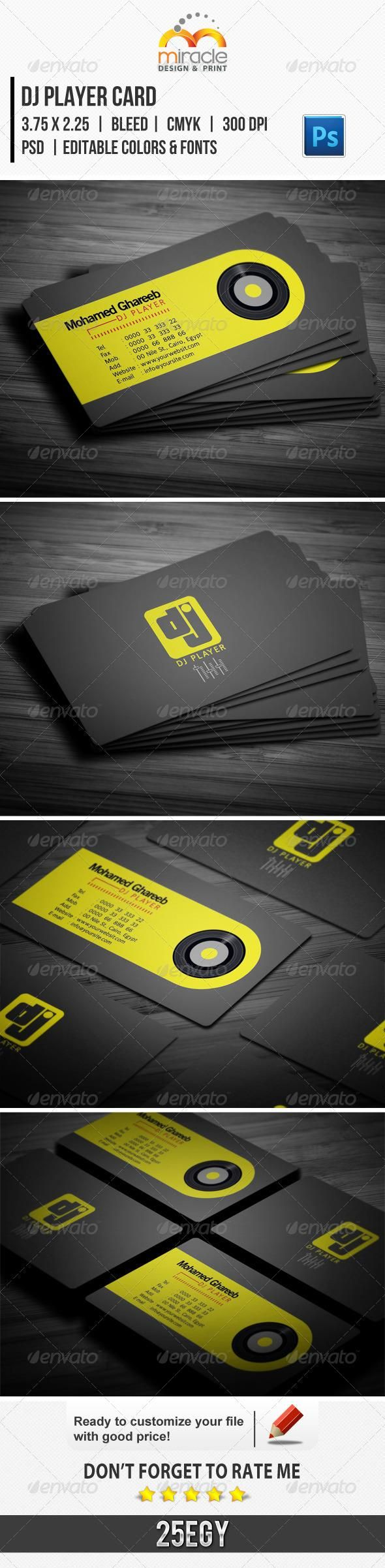 1661 best business card design images on pinterest cards file c dj player card magicingreecefo Image collections