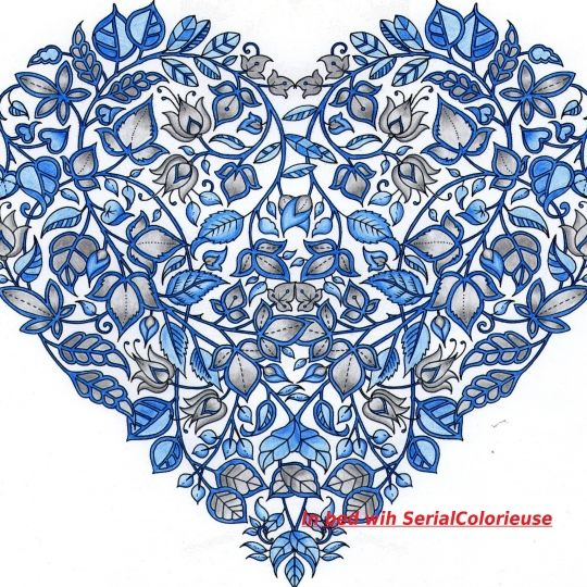Valentines Heart by In bed with SerialColorieuse. Johanna Basford
