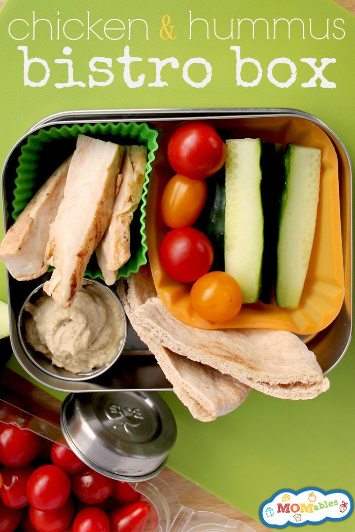 Chicken and Hummus Bistro Box via MOMables is a cost effective way to get that bistro style lunch you've always wanted!
