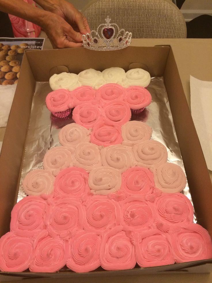 beauty Princess Aurora dress pull apart cupcake cake  Allis birthday ...