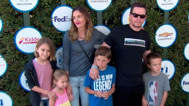 Mark Wahlberg and wife Rhea led their family to the Safe Kids Day event in West Hollywood.  Also in attendance was Drew Barrymore as well as Mark Paul Gosselaar with his family.