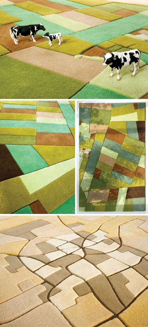 aerial topography rugs by land carpet - how perfect in a playroom if you've got boys crazy about farm toys (like me!)