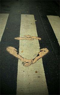 Funny street art....   No sabia que era imposible,,, y lo hice :-)
