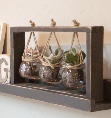 DIY Succulent frame - wooden centerpiece with plants (free plan) // Függő asztali virágtartó (pozsgásokhoz) fából - barkácsolás // Mindy - craft tutorial collection