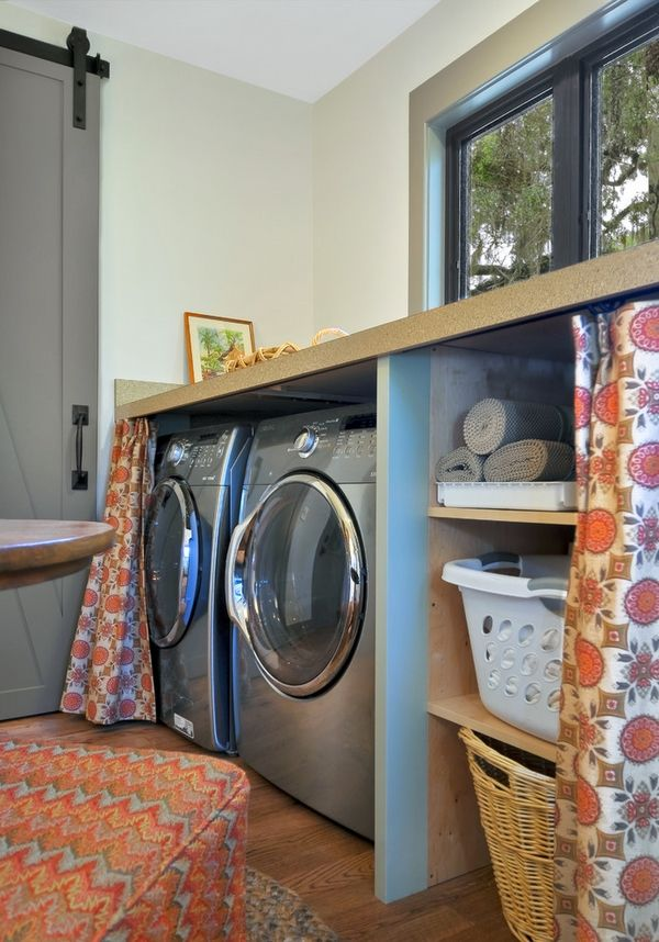 small laundry room ideas counter space storage shelves ideas