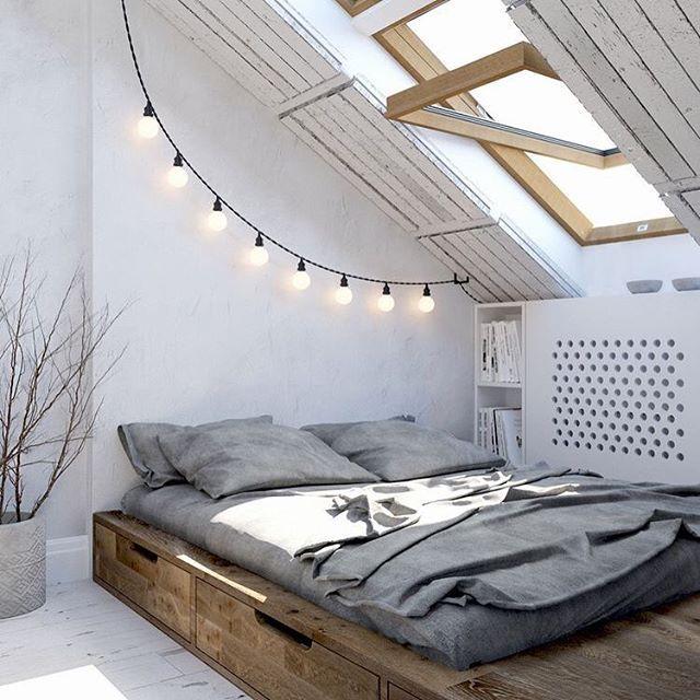 41 best images about Bedroom String Lights on Pinterest