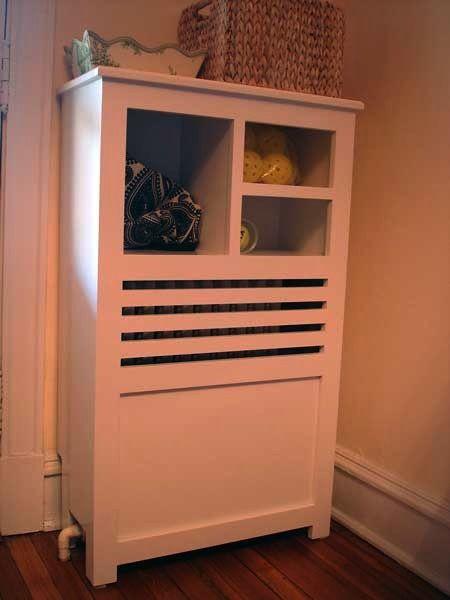 Radiator Cover For Corner With Shelves