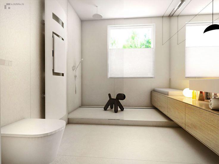 projekt: Katarzyna Francug, Jacek Doszyń Pracownia Kaffka modern bathroom/minimalism