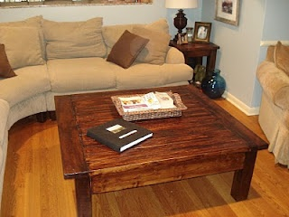 A Touch Of Arkansas: Big Square Coffee Table U0026 End Tables DIY