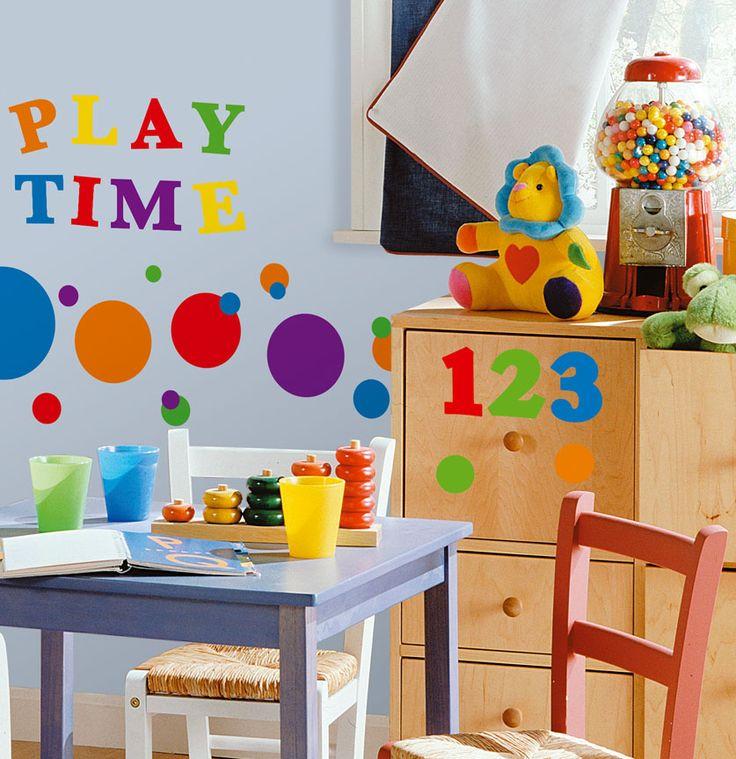cute idea for play room decor