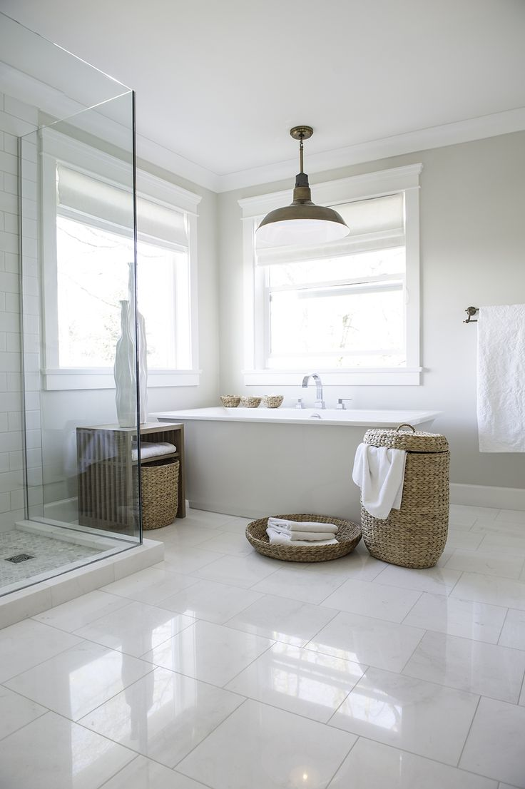 Best 20 white bathrooms ideas on pinterest bathrooms Master bathroom tile floor