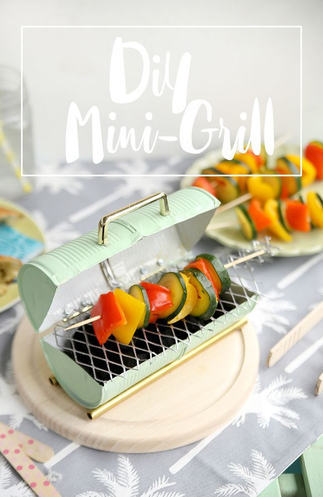 diy mini grill aus konserven selbstgemacht mein feenstaub grillparty food diy diy grill. Black Bedroom Furniture Sets. Home Design Ideas