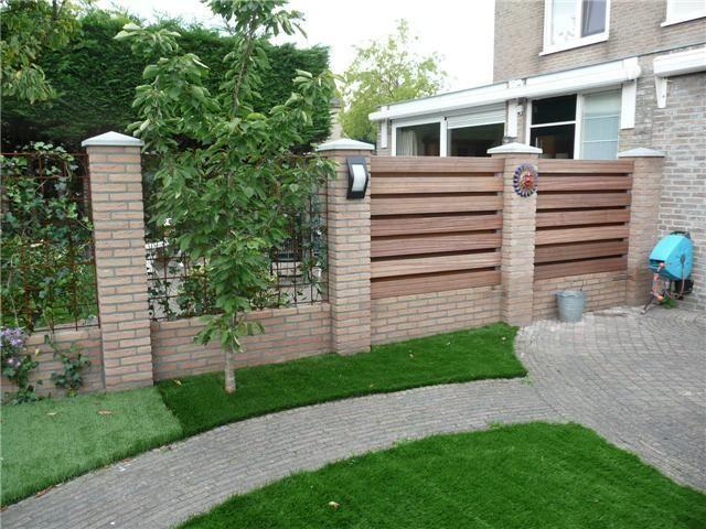 Muur met schutting van hout erop google zoeken tuinideeen pinterest search van and met - Veranda met stenen muur ...