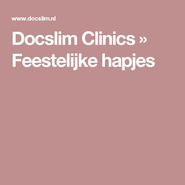 Docslim Clinics » Feestelijke hapjes