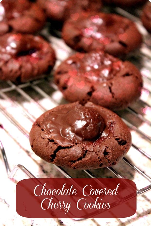 Chocolate Covered Cherry #Cookies -- my most favorite cookie recipe of all time. Great for Valentine's Day!