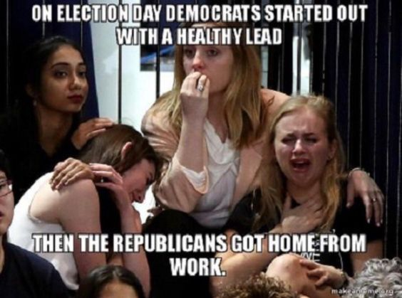 Oh MY GOD I LOVE THIS!!!!!  This WORKING Republican voted early...So I could sit at home in North Carolina and watch with my Bestie how we helped FLIP our STATE RED!  I never went to bed that night and I got my rear out and went to work the next day.  HAPPY & SMILING MY REAR OFF!