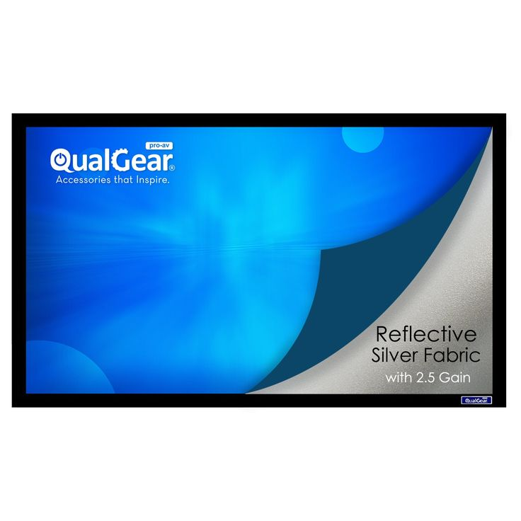 QualGear QG-PS-FF6-169-120-S 16:9 Fixed Frame Projector Screen, 120-Inch 3D High Reflective Silver 2.5 Gain