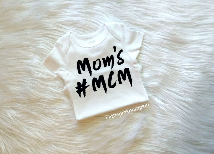 Baby Boy Clothes, Mother and Son, Mom's MCM Shirt, Mom's #MCM, Mom's Man Crush Monday Shirt, Hipster Clothes, Bodysuit ONLY by LittlePinkPumpkin on Etsy
