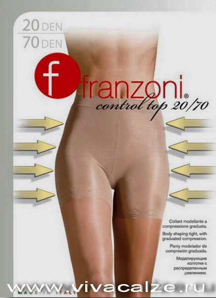 CONTROL TOP 20 Тонкие прозрачные колготки плотностью 20 den с корректирующим эффектом.
