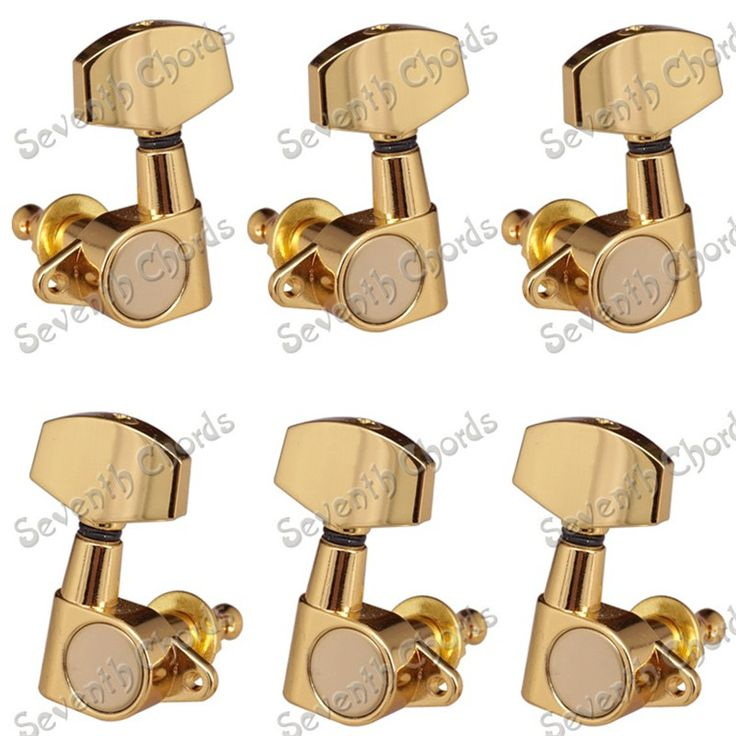 A set of 6 pcs gold guitar tuning pegs machine heads with