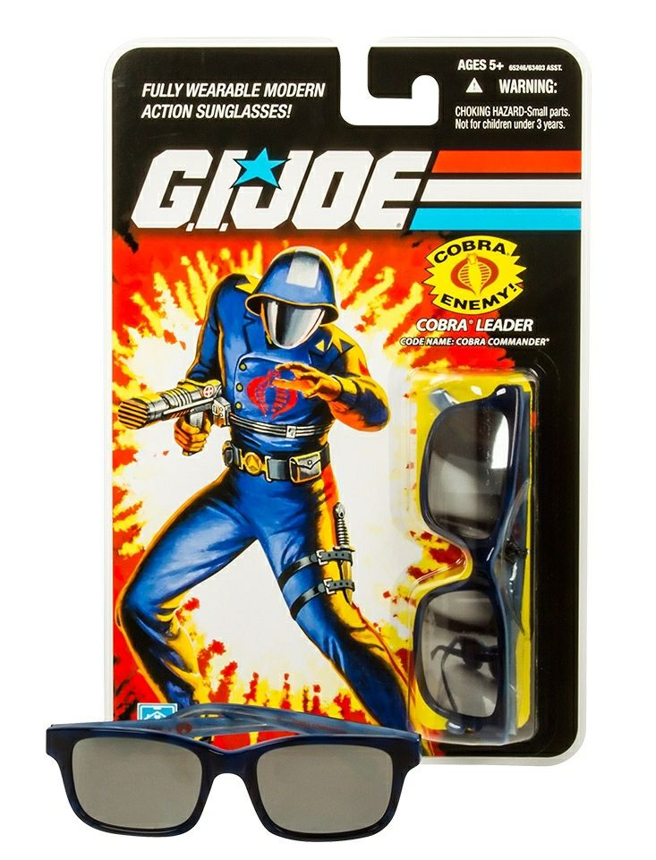 Blister pack packaging for ltd. edition G.I. Joe sunglasses by Look/See