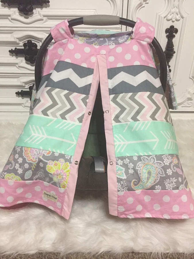 Etsy Car Seat Cover OOAK Carseat Canopy Nursing