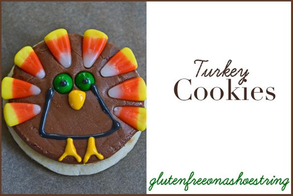 Gluten-Free Thanksgiving Turkey Cookies | cookies, candy etc | Pinter ...