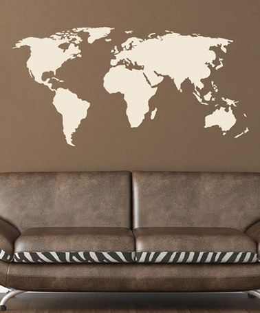Look what I found on #zulily! World Map Decal #zulilyfinds