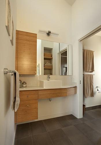 9 best vaulted ceiling lights images on pinterest for Modern ranch bathroom