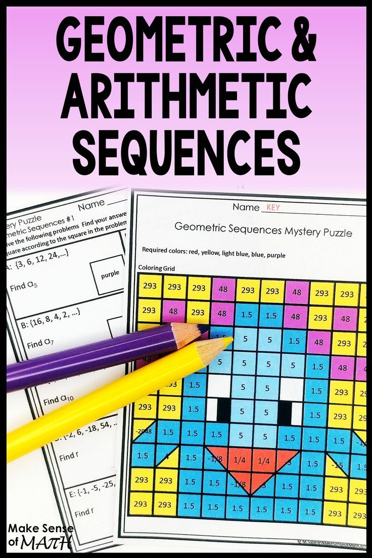 medium resolution of Check out this geometric sequences activity and arithmetic sequences  activity.…   Arithmetic sequences activities