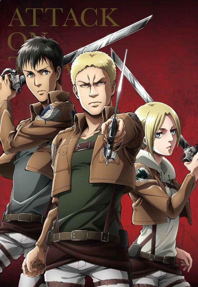 Attack On Titan Trios Square On In Magazine Bonus Art Attack On Titan Attack On Titan Anime Attack On Titan Season