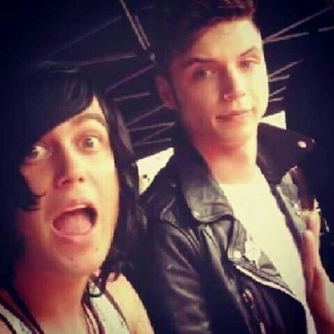 "Its funny cause it looks like Kellin is fangirling over Andy like: ""Omg! its Andy Biersack! aksjhfgdvtdg"" and then Andy's like: ""pffft, Kellin Quinn. whatever"""