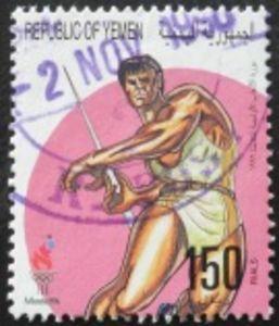 Javelin throwing Athlete