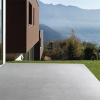 Bradstone Mode porcelain floor tiles Dark Grey Textured 600 x 600 paving slabs x 20 60 Per Pack