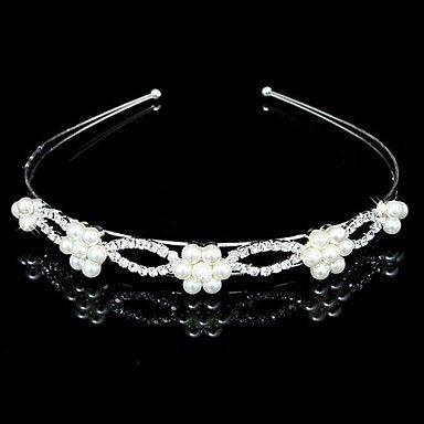 Wedding Bridal Flower Girls Kids Crystal Pearl Hair Band Headband Tiara – USD $ 4.99