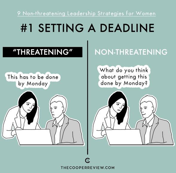 Frauen in Führungspositionen  verunsichern viele Mitarbeiter.  // THE COOPERREVIEW // LEADERSHIP STRATEGIES FOR WOMEN // IT'S FUNNY 'CAUSE IT'S TRUE