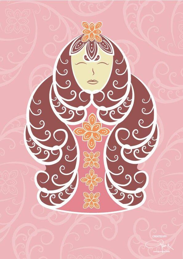 Design feminism with motive batik kawung ..