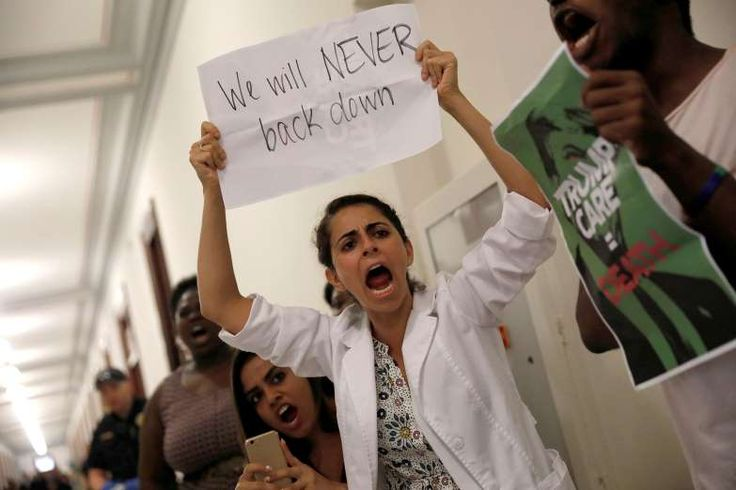Where Does Obamacare Go From Here? 3 Scenarios for Health Care Reform  -  July 28, 2017:     Healthcare activists gather outside the office of Senator Johnny Isakson (R-GA) to protest the Republican healthcare bill on Capitol Hill in Washington, U.S., July 19, 2017.