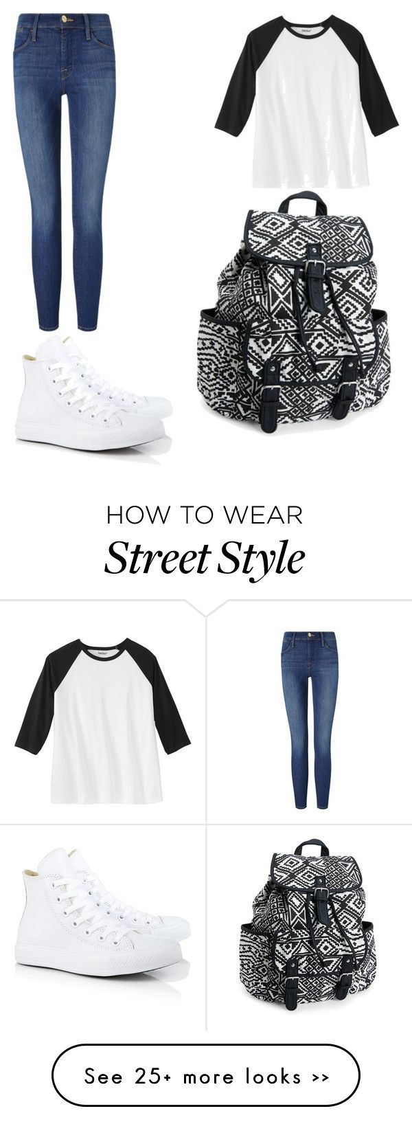 """T-Style"" by teaganscott on Polyvore featuring Converse, Frame Denim and Aéropostale"