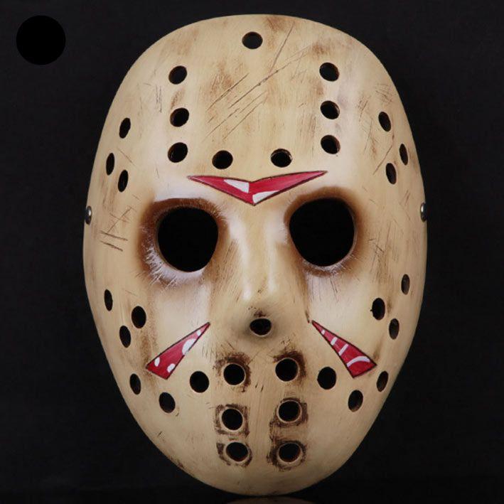 Máscara Jason Voorhees, Viernes 13, hockey color amarillo Máscara en color amarillo, réplica de la que utiliza Jason Voorhees en la saga de terror Viernes 13.