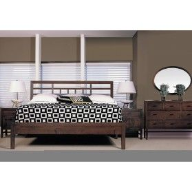 Durham Furniture Soma Asian Bedroom Set with Low Panel Footboard