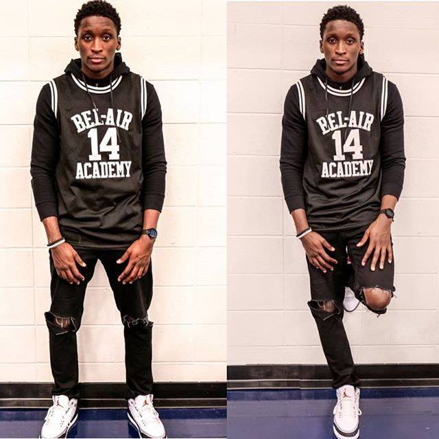 76a587cef478  Pacers guard  VictorOladipo rocking a THROWBACK  WillSmith Bel-Air Academy  jersey.  morethanstats