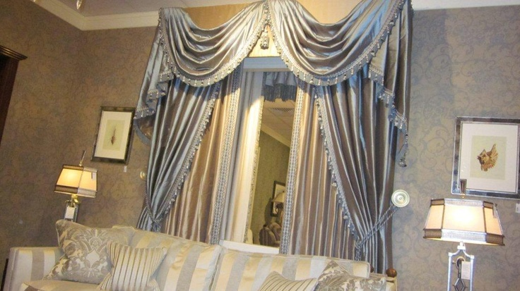 Curtains With Swags And Tails - Curtains Design Gallery