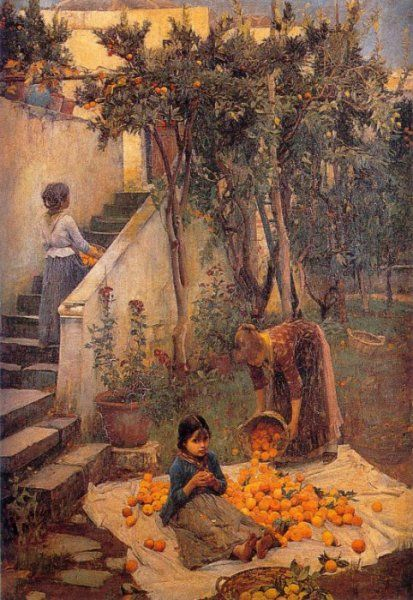 izzydaydreams:  The Orange Gatherers by John William Waterhouse c 1890
